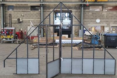 Fabrication cloison vitréetype verrière atelier