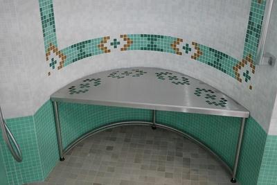 Tabouret de douche inox - sur mesure