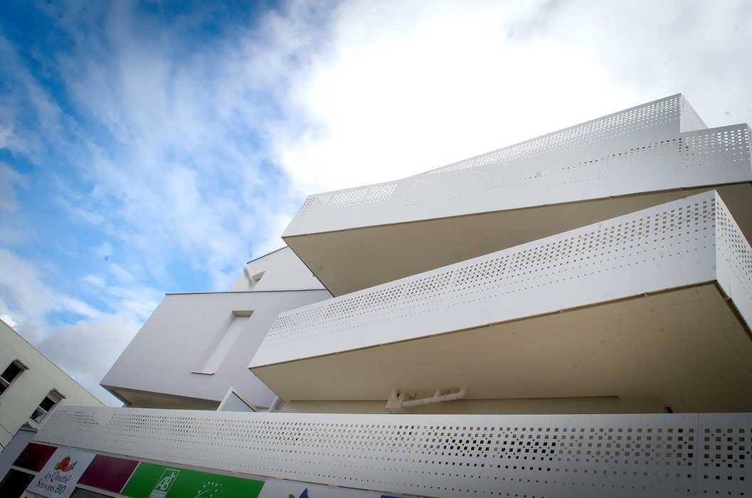Garde-corps tôle découpée au laser- habillage murs - claustras aluminium 0