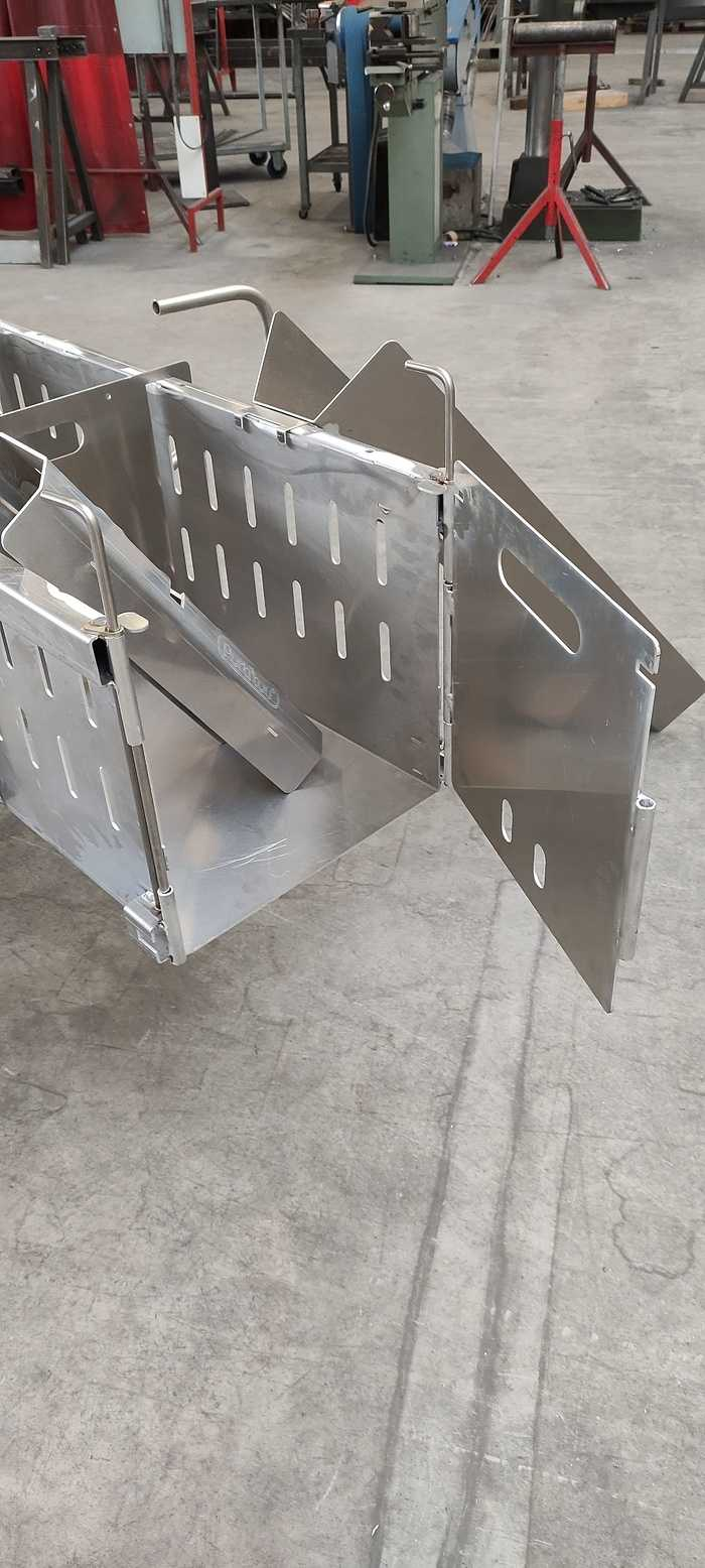 Chariot alu pour élevage porcin 1612379984736