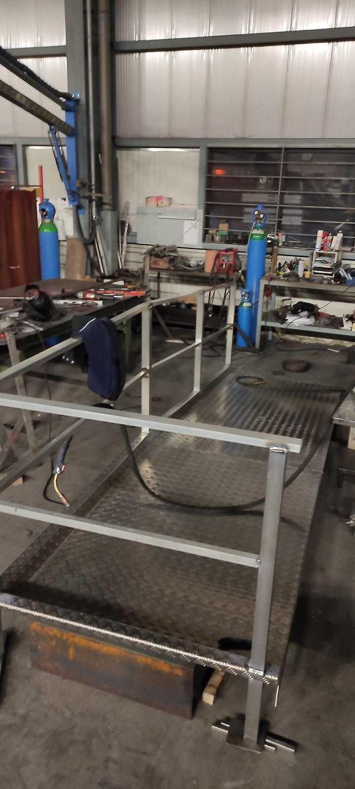Fabrication rampe alu accès handicapé - Lannion 1611336535633