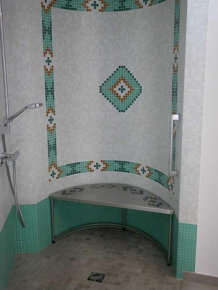 Tabouret de douche inox - sur mesure 1613156193184