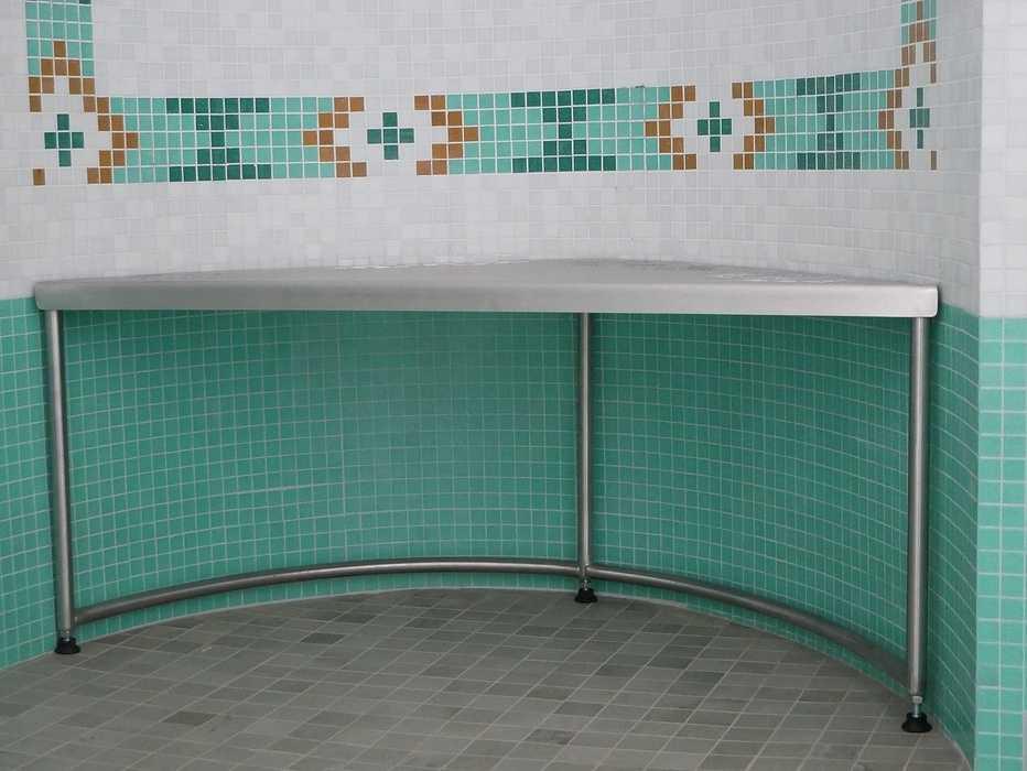 Tabouret de douche inox - sur mesure 1613156209196