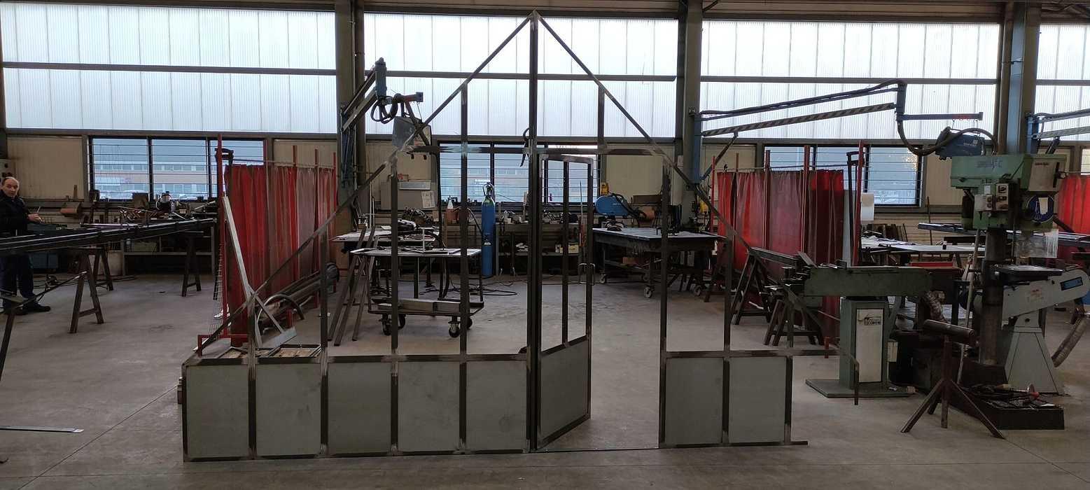 Fabrication cloison vitréetype verrière atelier a1