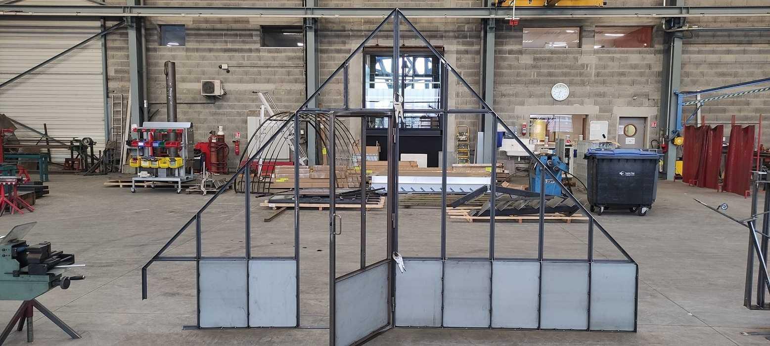 Fabrication cloison vitréetype verrière atelier 0