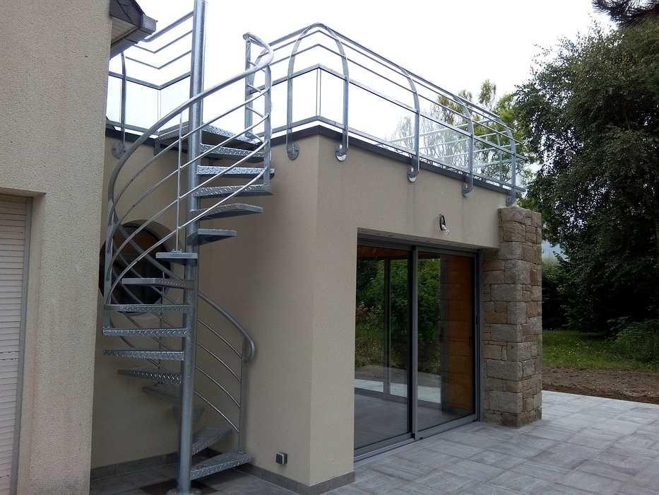 Escalier métal hélicoïdal 0